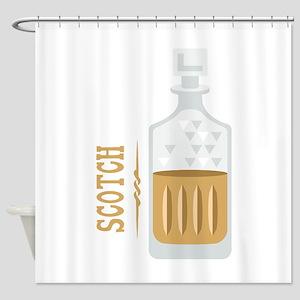 Bourbon Bottle Shower Curtain