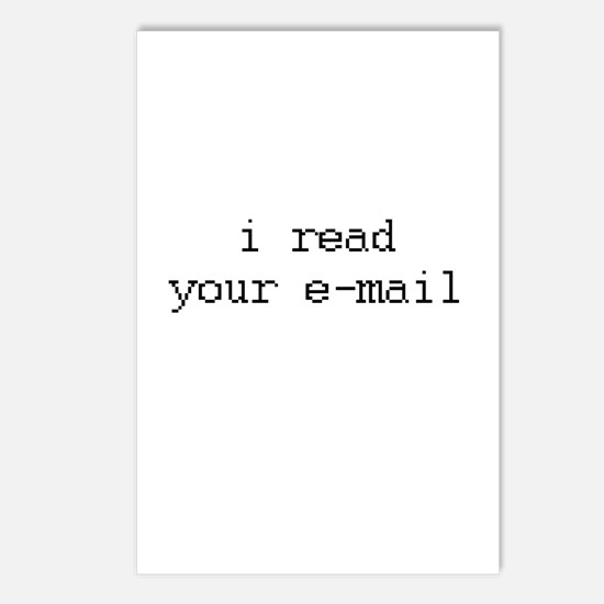 i read your e-mail Postcards (Package of 8)