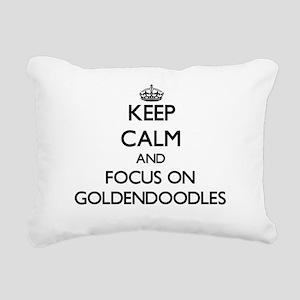 Keep calm and focus on G Rectangular Canvas Pillow