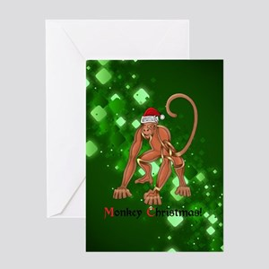 Christmas Monkey Greeting Cards