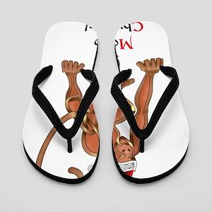 Christmas Monkey Flip Flops