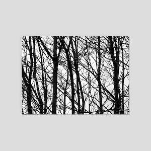 Winter Trees 5 X7 Area Rug