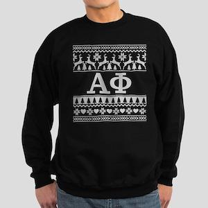 Alpha Phi Ugly Christmas Sweatshirt (dark)