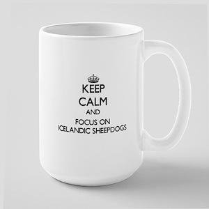 Keep calm and focus on Icelandic Sheepdogs Mugs