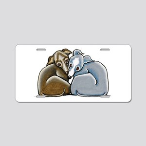 Italian Greyhound Huddle Aluminum License Plate