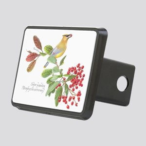 Cedar Waxwing and berries Hitch Cover