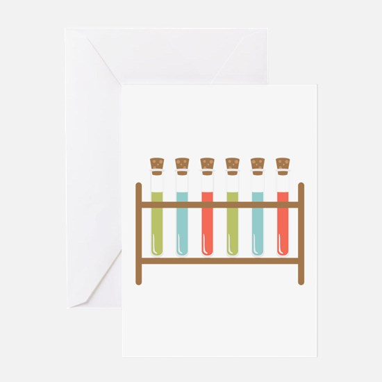 Test Tubes Greeting Cards
