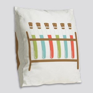 Test Tubes Burlap Throw Pillow