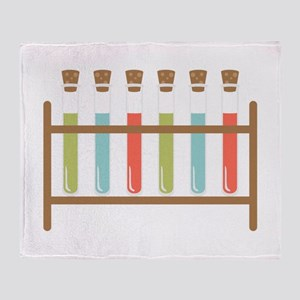Test Tubes Throw Blanket