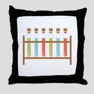 Test Tubes Throw Pillow