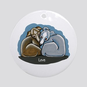 Italian Greyhound Huddle Ornament (Round)