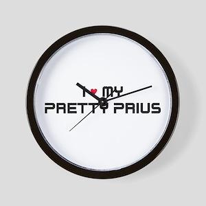 Pretty Prius Wall Clock