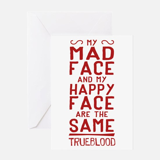 Pam True Blood Mad Face Greeting Cards