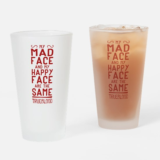 Pam True Blood Mad Face Drinking Glass