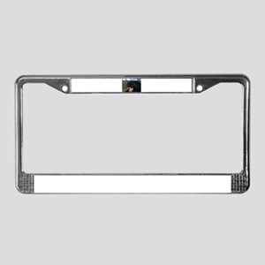 Panther Hissing License Plate Frame
