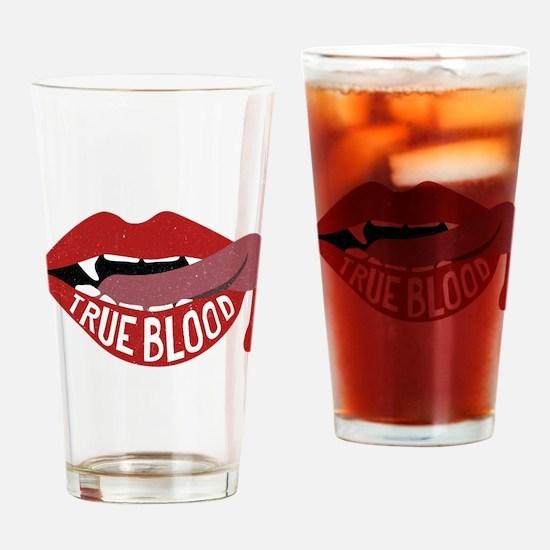 True Blood Vampire Lips Graphic Drinking Glass