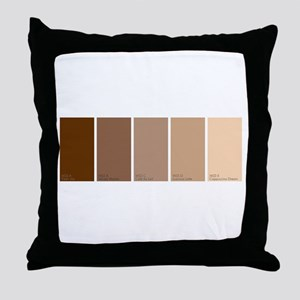 Paint Chips Coffee Throw Pillow