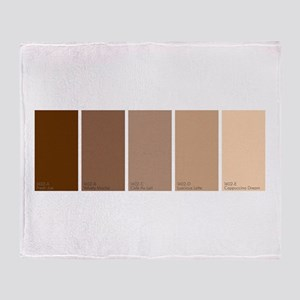 Paint Chips Coffee Throw Blanket