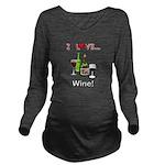 I Love Wine Long Sleeve Maternity T-Shirt
