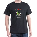 I Love Wine Dark T-Shirt