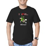 I Love Wine Men's Fitted T-Shirt (dark)