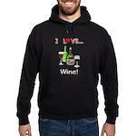 I Love Wine Hoodie (dark)