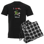 I Love Wine Men's Dark Pajamas