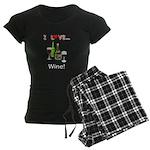 I Love Wine Women's Dark Pajamas