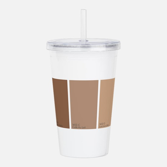 Paint Chips Coffee Acrylic Double-wall Tumbler