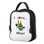 I Love Wine Neoprene Lunch Bag