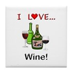 I Love Wine Tile Coaster