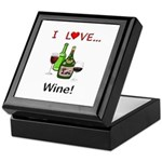 I Love Wine Keepsake Box