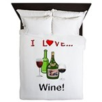 I Love Wine Queen Duvet