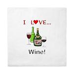 I Love Wine Queen Duvet
