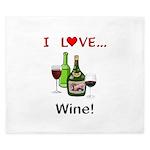 I Love Wine King Duvet