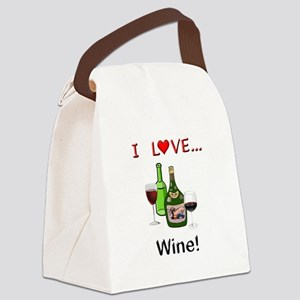 I Love Wine Canvas Lunch Bag