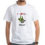 I Love Wine White T-Shirt