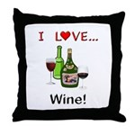 I Love Wine Throw Pillow