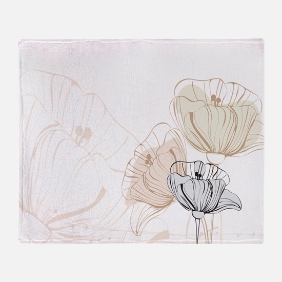 Delicate Poppies Throw Blanket