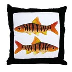 African Banded Barb Throw Pillow