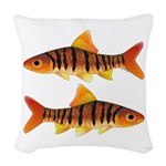 African Banded Barb Woven Throw Pillow