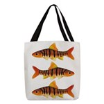 African Banded Barb Polyester Tote Bag