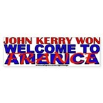 Wlcome to France Anti-John Kerry Bumper Sticker