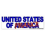 United States of France Anti-Kerry Bumper Sticker
