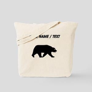 Custom Bear Walking Silhouette Tote Bag