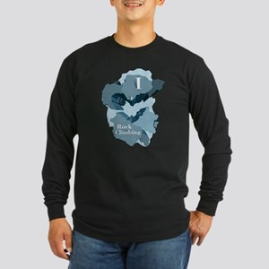 I Heart Rock Climbing Long Sleeve T-Shirt