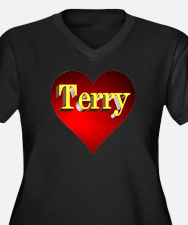 Terry Heart Plus Size T-Shirt