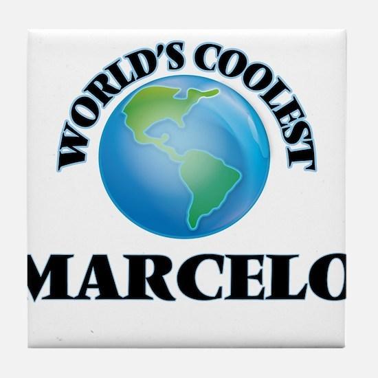 World's Coolest Marcelo Tile Coaster