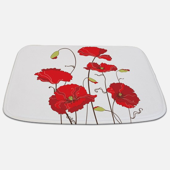 Red Poppies Bathmat