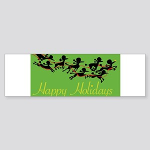 Poodle Holiday Bumper Sticker